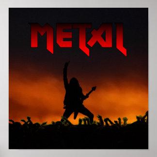 Metallplakat Poster