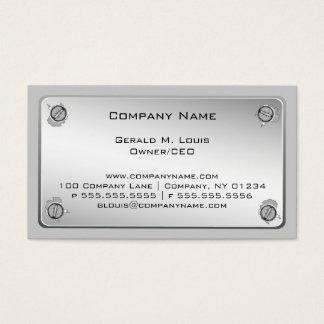 MetallplattenBaugewerbe-Karten Visitenkarte