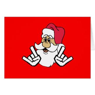 Metallsankt-Weihnachtskarte Grußkarte
