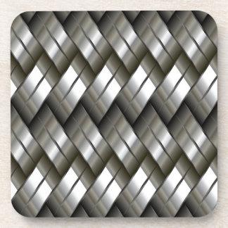 Metallsilbernes Muster Getränkeuntersetzer