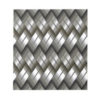 Metallsilbernes Muster Notizblock