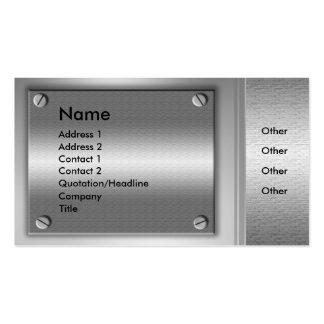 MetallTeller-Geschäfts-Karten Visitenkarten Vorlage