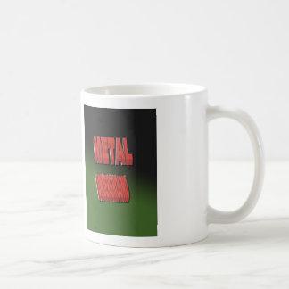 MetallUntergrund mit grünem Hintergrund Kaffeetasse