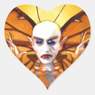 Metamorphose von Nosferatu Herz-Aufkleber