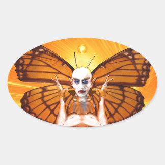Metamorphose von Nosferatu Ovaler Aufkleber