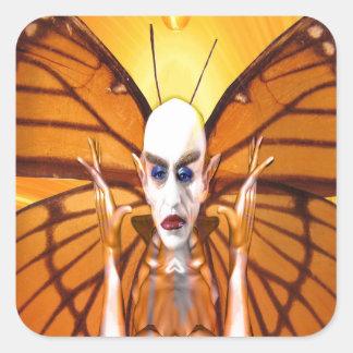 Metamorphose von Nosferatu Quadratischer Aufkleber