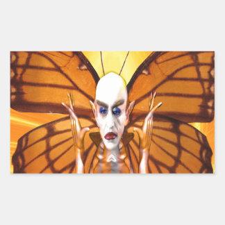 Metamorphose von Nosferatu Rechteckiger Aufkleber