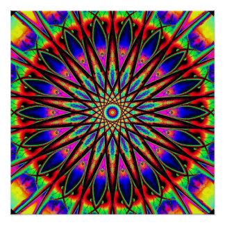 Metaphysische Kompass-Mandala Poster