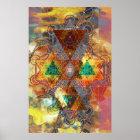 Metatron Colorscape Mandala-Kunst-Plakat Poster