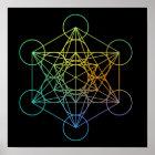Metatron Würfel-heilige Geometrie Poster