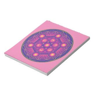 Metatrons Würfel in der Blume des Lebens Notizblock