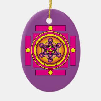Metatrons Würfel Merkaba Mandala Keramik Ornament