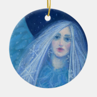 Metelitsa, Schnee-Mädchen, Snowgirl, Snegurochka Keramik Ornament