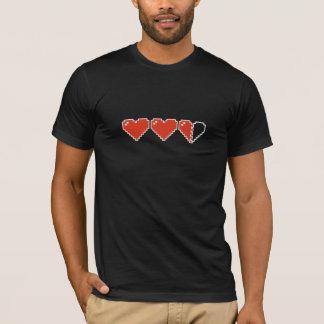 Meter des Herz-8bit T-Shirt