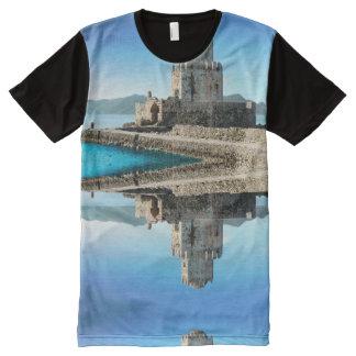 Methoni Schloss, Griechenland-T-Shirt T-Shirt Mit Komplett Bedruckbarer Vorderseite