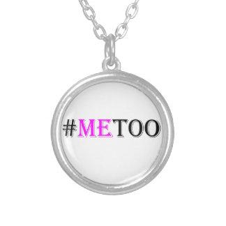 #METOO Bewegung für die Rechte und die Gleichheit Versilberte Kette