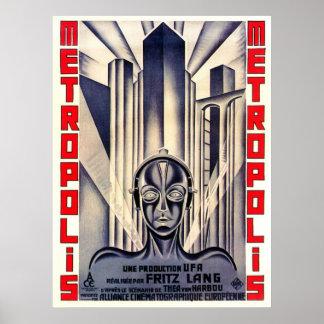 Metropole-Film-Plakat, Fritz Lang 1927 Poster