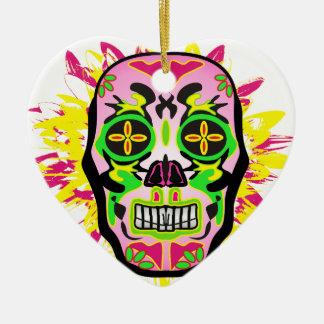 Mexican Skull Keramik Ornament