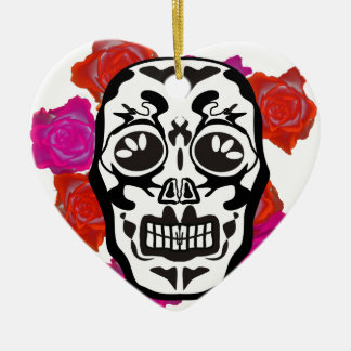 Mexican Skull Keramik Ornament
