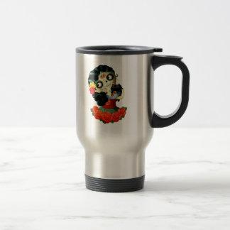 Mexikaner Dia de Los Muertos Lovely Catrina Reisebecher