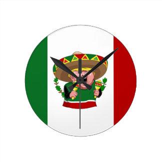 Mexikaner Donald Trump Runde Wanduhr
