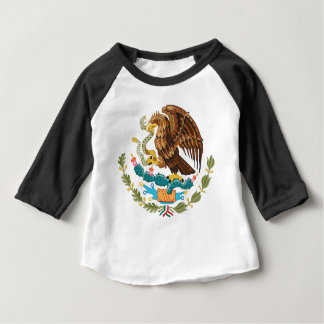 Mexikaner Eagle und Schlange Baby T-shirt