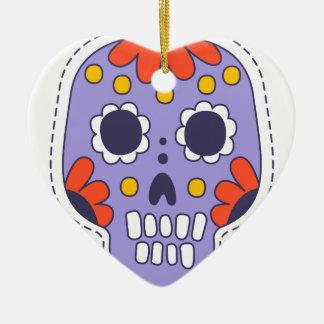 Mexikaner gemalter Schädel Keramik Ornament
