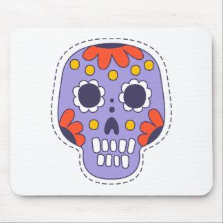 Mexikaner gemalter Schädel Mauspad