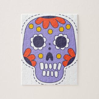 Mexikaner gemalter Schädel Puzzle