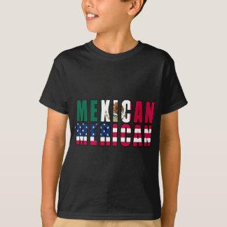 Mexikaner 'Merican Flaggen - Mexiko-Amerikaner T-Shirt