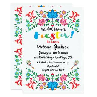 Mexikanische Fiesta-Brautparty-Blume Folkart Karte