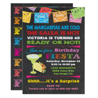 Mexikanische Fiesta-Geburtstags-Party Einladung
