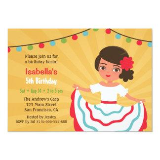 Mexikanische Fiesta-niedliches hispanisches 12,7 X 17,8 Cm Einladungskarte