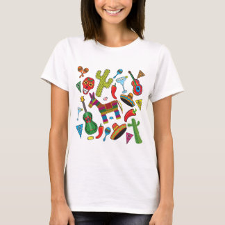 Mexikanische Fiesta-Party-Bilder T-Shirt