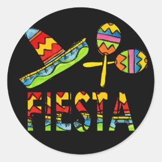 Mexikanische Fiesta-PartySombrero Maraca Aufkleber
