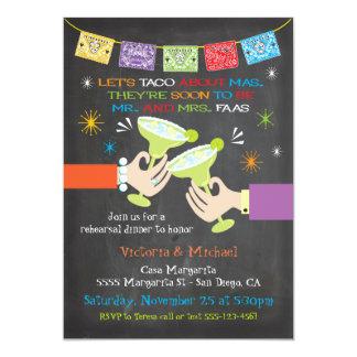 Mexikanische Fiesta-Proben-Abendessen GEWOHNHEIT 12,7 X 17,8 Cm Einladungskarte