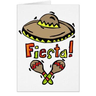 Mexikanische Fiestakarte Karte