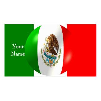 Mexikanische Flagge mit Blasen-Visitenkarte Visitenkarten