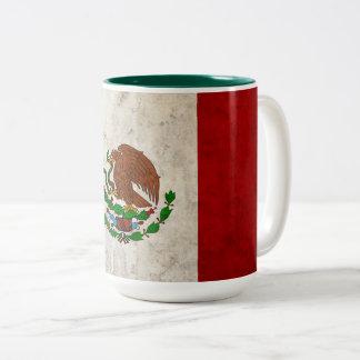 Mexikanische Flagge Zweifarbige Tasse