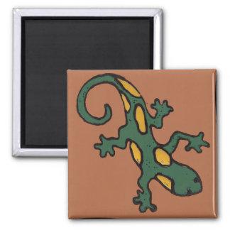 Mexikanische Gecko-Fliese Quadratischer Magnet