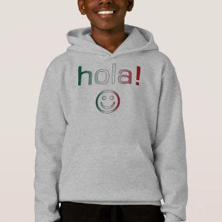 Mexikanische Geschenke: Hallo/Hola + Smiley Hoodie