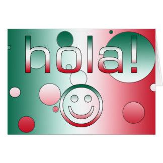 Mexikanische Geschenke: Hallo/Hola + Smiley Karte