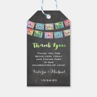 Mexikanische Hochzeits-Fiesta danken Ihnen, Geschenkanhänger
