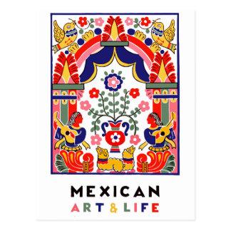 mexikanische Kunst u. Leben Postkarte