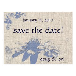 Mexikanische Sonnenblumen Save the Date! Postkarte