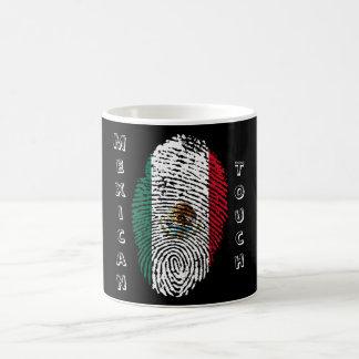 mexikanische Touchfingerabdruckflagge Kaffeetasse
