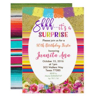 Mexikanische Überraschungs-Geburtstags-Party Karte