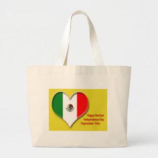 Mexikanische Unabhängigkeits-TagesTasche am 16. Jumbo Stoffbeutel