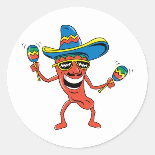 Mexikanischer Chili-Pfeffer Runder Sticker