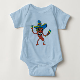 Mexikanischer Chili-Pfeffer Baby Strampler